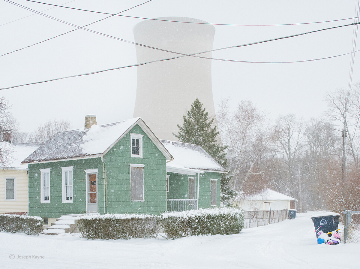 nuclear,cooling,tower,winter,rust,belt,urban,landscape,christmas, photo