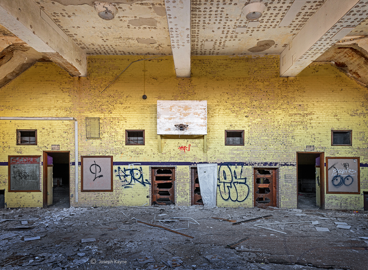 took,it,to,the,hoop,abandoned,school,gym,detroit, photo