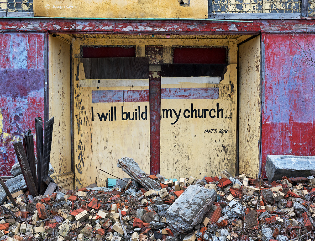 I,will,build,my,church,rust,belt,abandoned,church, photo