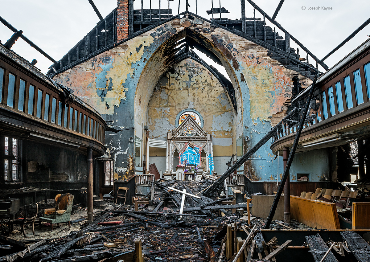 faith,no,more,rust,belt,church,fire,remains, photo