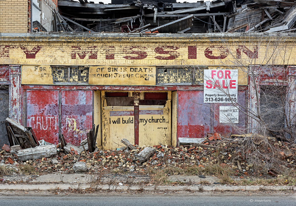 faith,for,sale,abandoned,storefront,church,rust,belt, photo