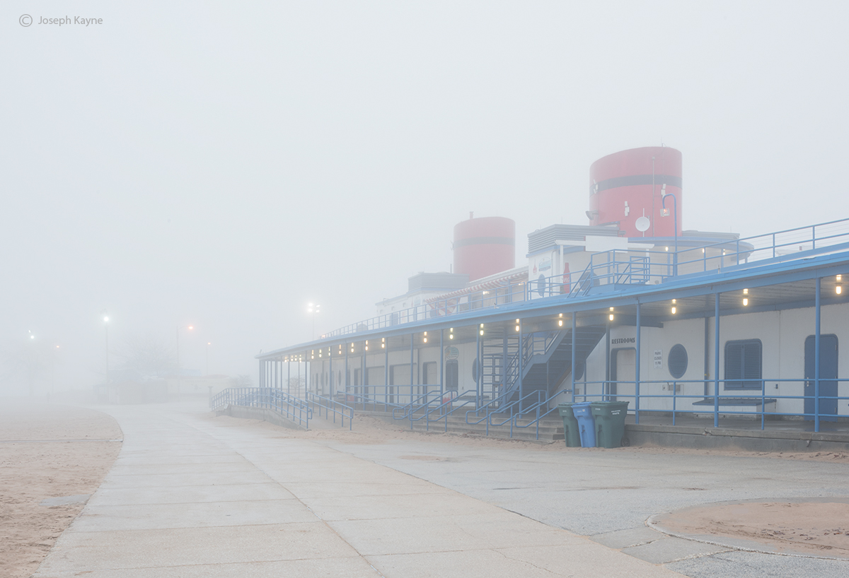 foggy,morning,chicago,beach, photo