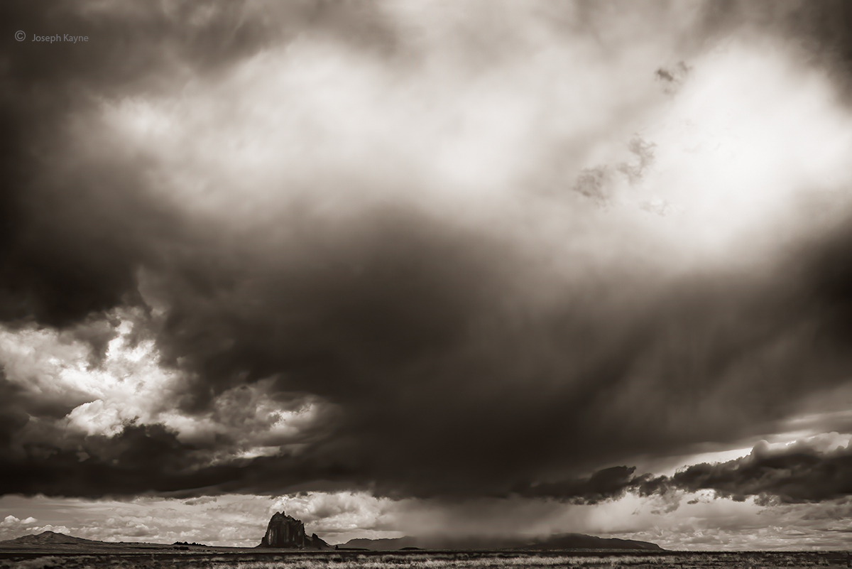 shiprock,thunderstorn,navajoland, photo
