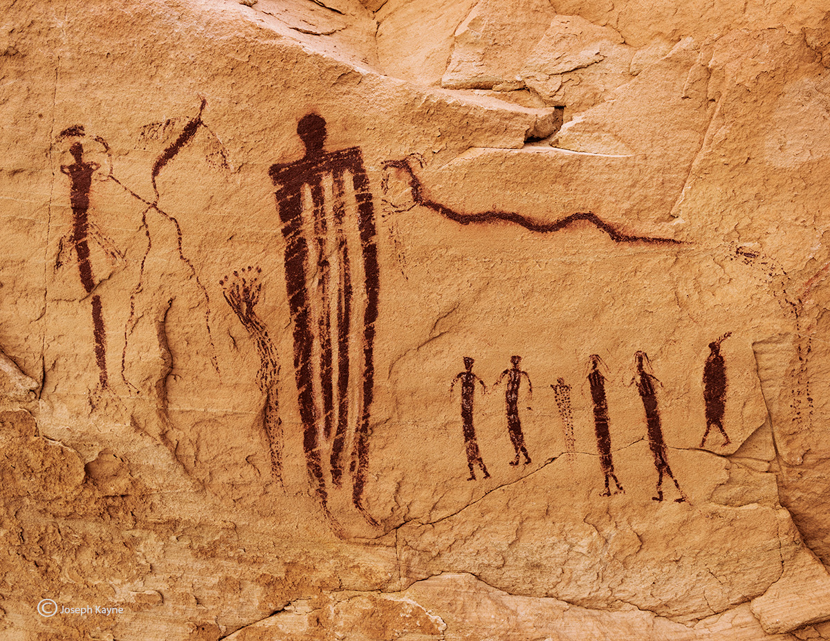 snake,procession,barrier,canyon,style,pictographs,colorado,plateau, photo