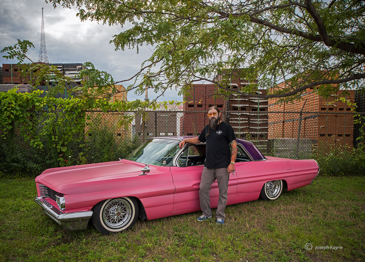 old,pink,pontiac,owner,chicago, photo