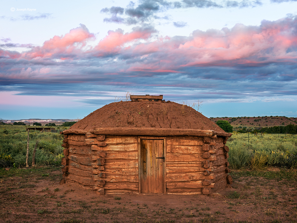 Navajo Hogan at Sunrise