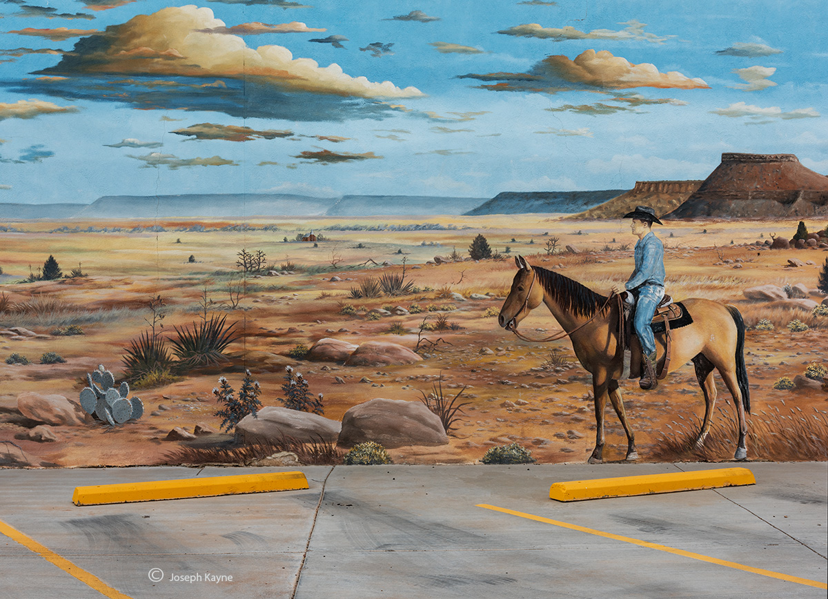 alone,on,the,range,new,mexico,parking,lot,mural, photo