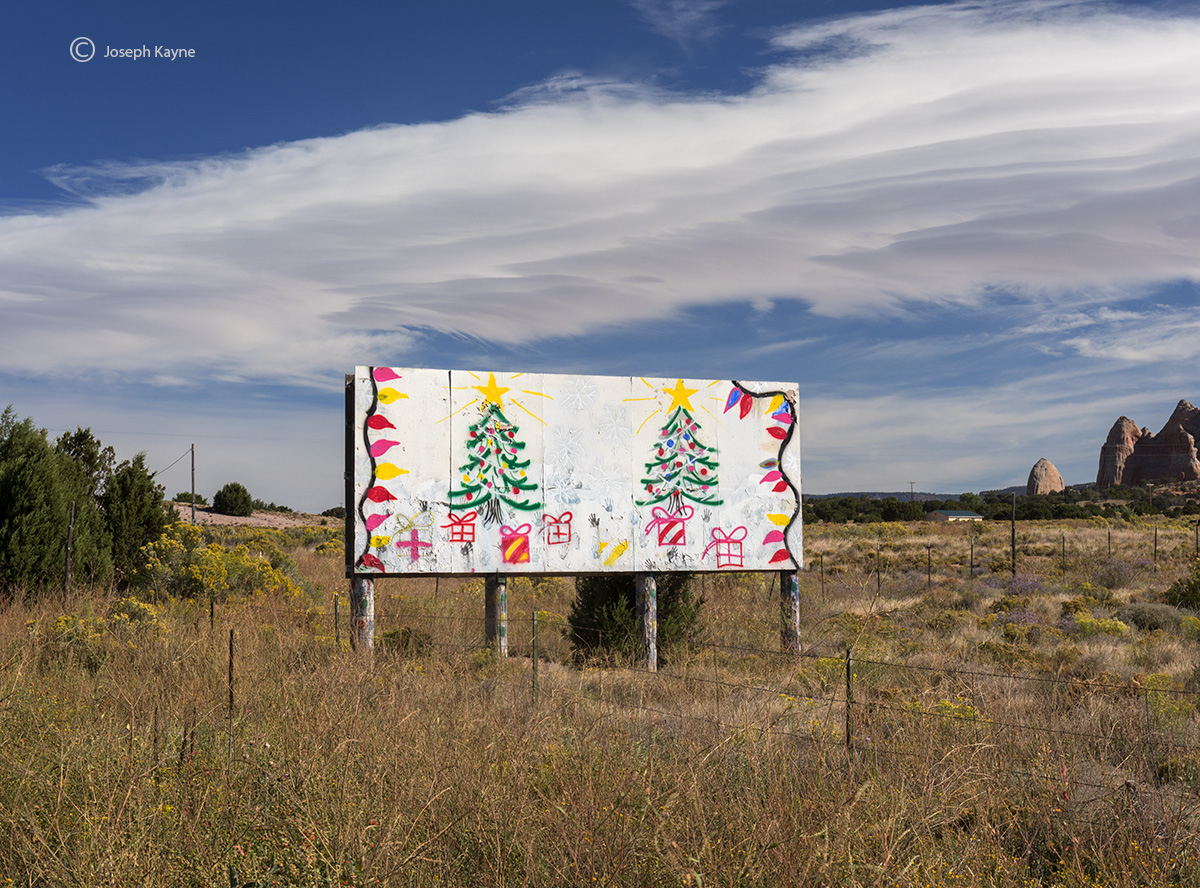 navajo,christmas,ganado,arizona,christmas,tree,billboard, photo