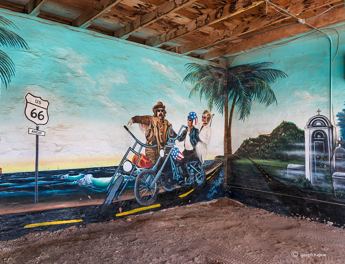 easy,rider,old,hotel,mural,new,mexico, photo