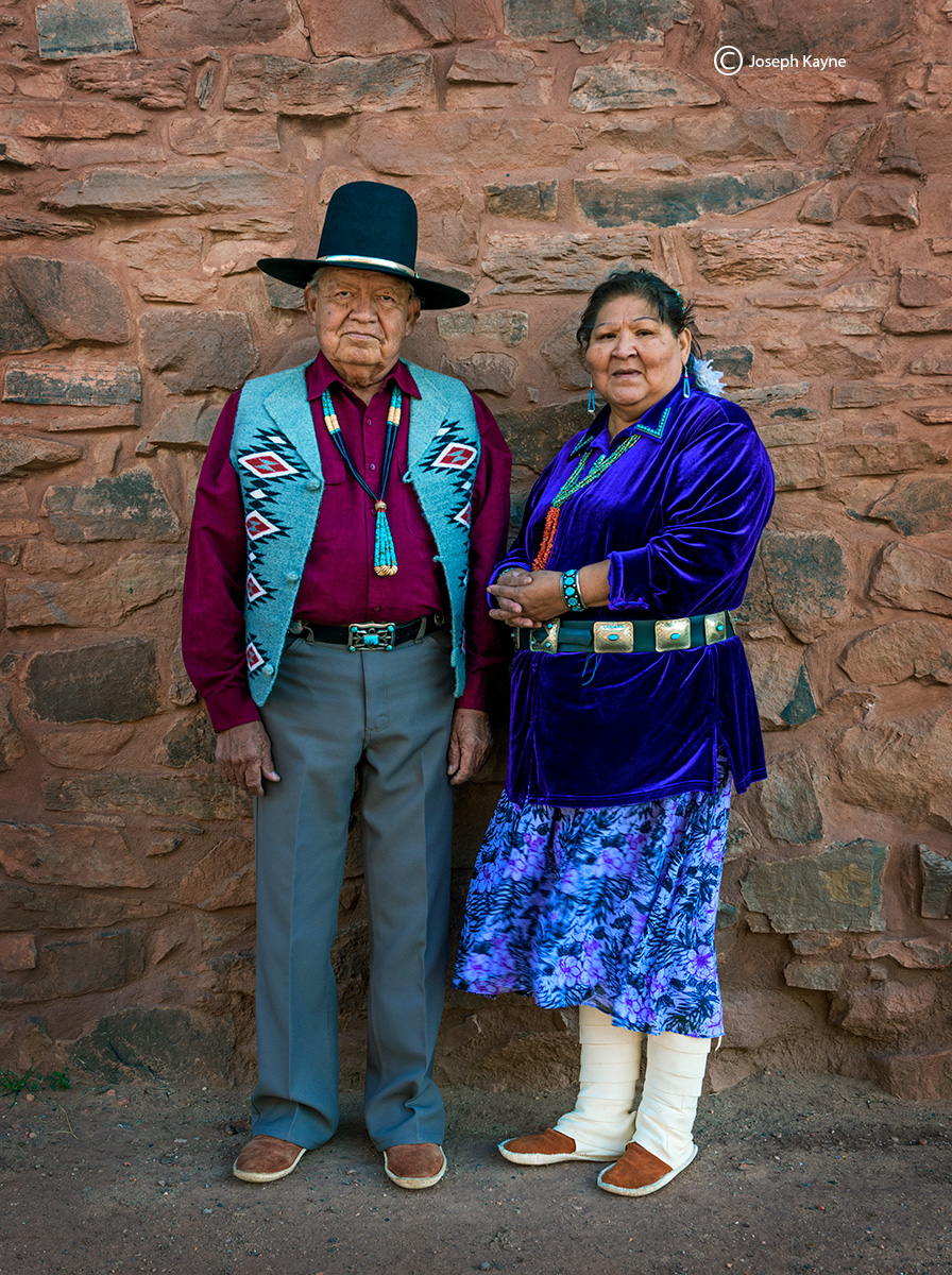 navajo,couple,hubbell,trading,post,traditional,portrait, photo