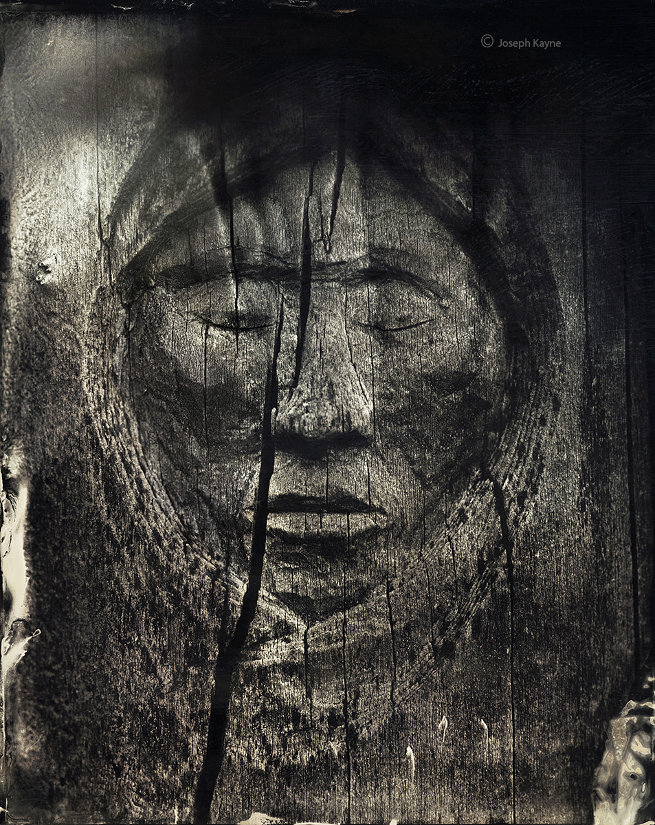 old,navajo,tree,carving,wet,plate,collodion,tintype,ambrotype,hubbell,trading,post,ganado,arizona, photo