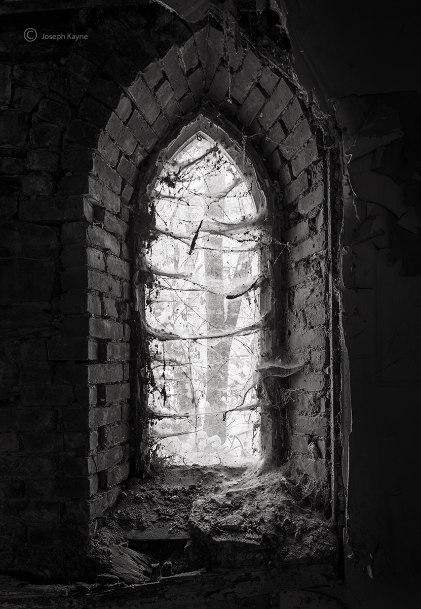 abandoned,faith,church,new,york,window, photo