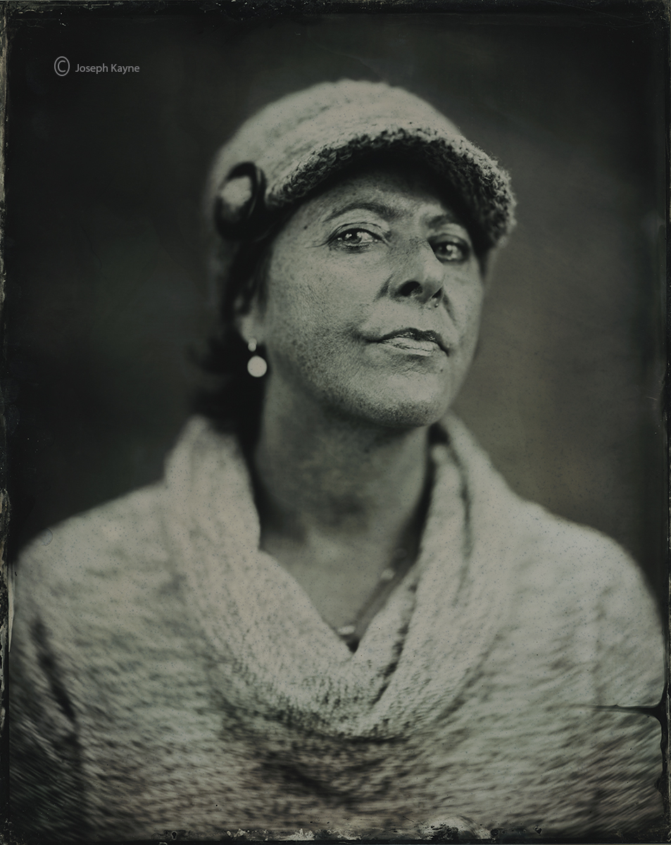 wet,plate,lady,T,chicago, photo