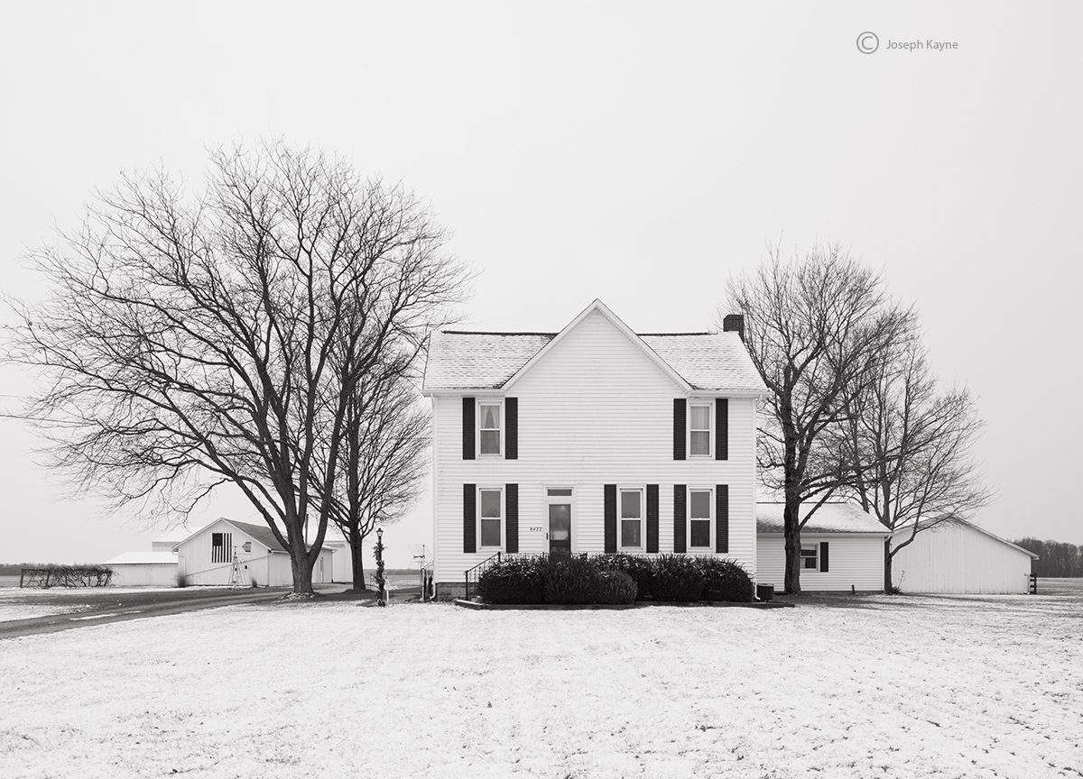 indiana,farm,winter,farmstead, photo