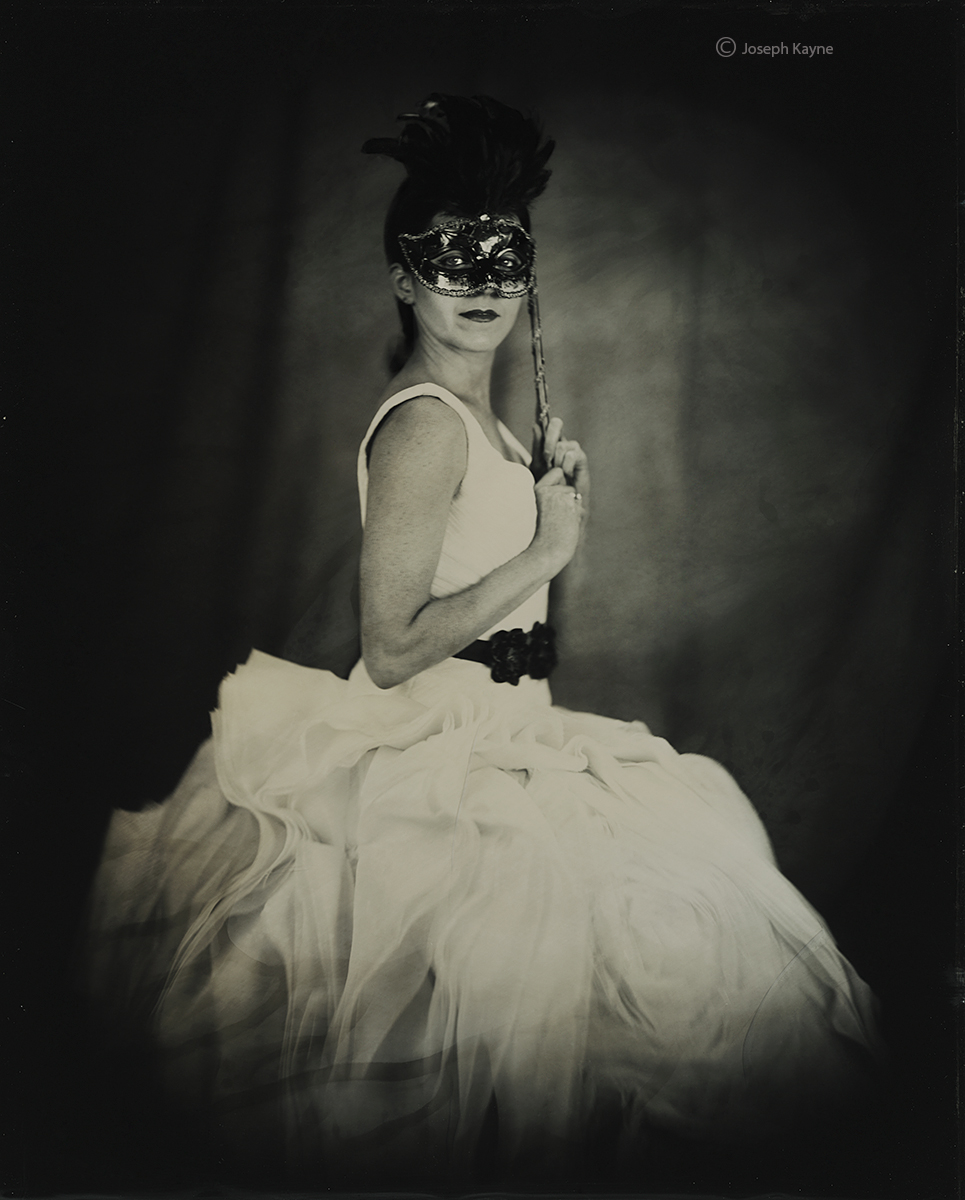 Masked BallerinaWet Plate Collodion Tintype