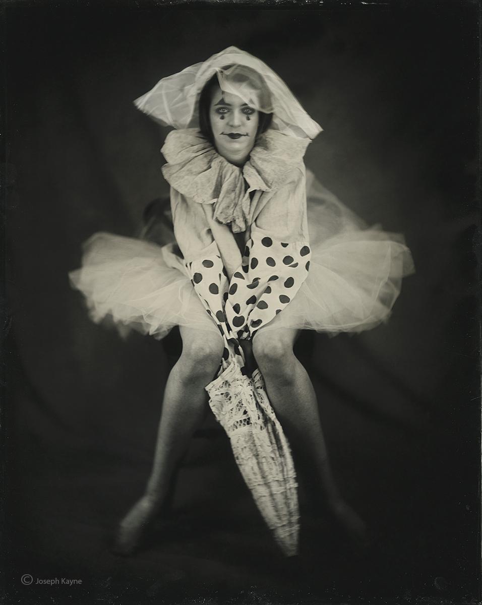 Clown BallerinaWet Plate Collodion Tintype