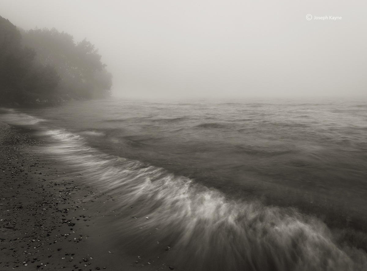 Foggy Beach,Lake Michigan