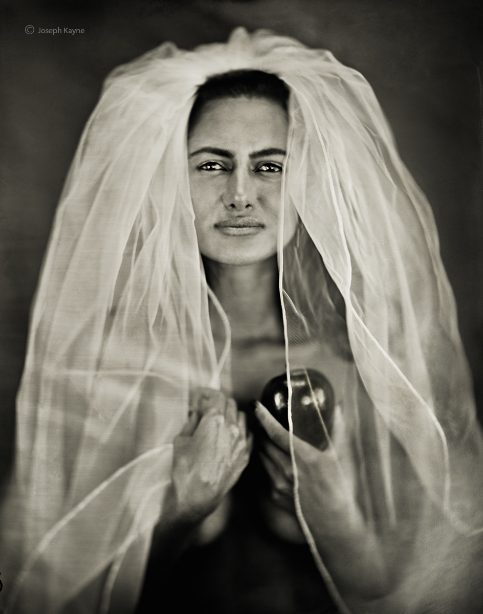 Portrait Of The MadonnaWet Plate Collodion Tintype