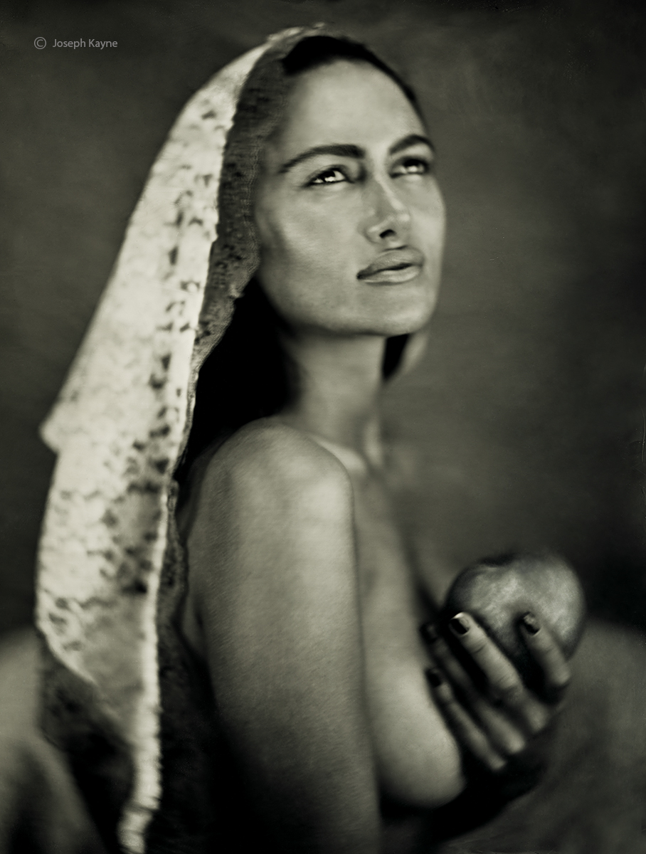 A Portrait Of The MadonnaWet Plate Collodion Tintype