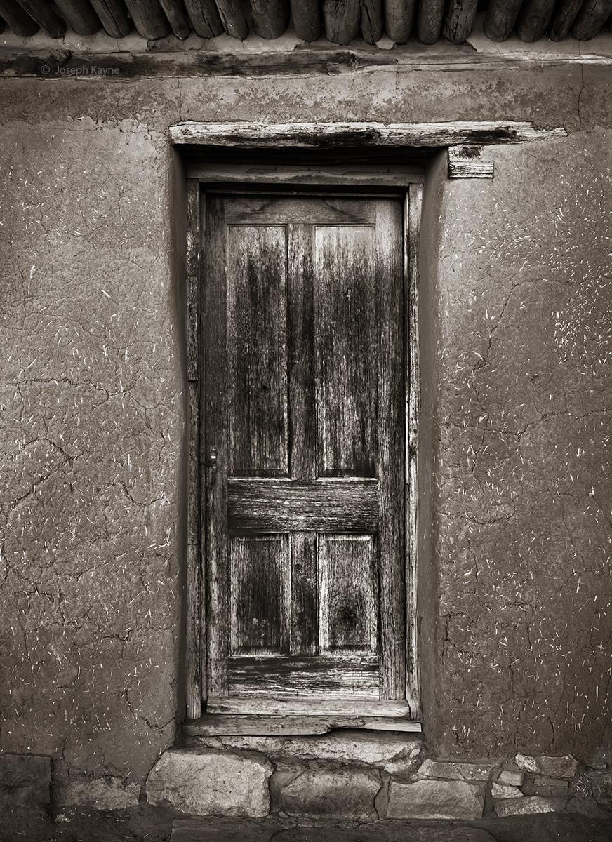 Old Door & Adobe Walls