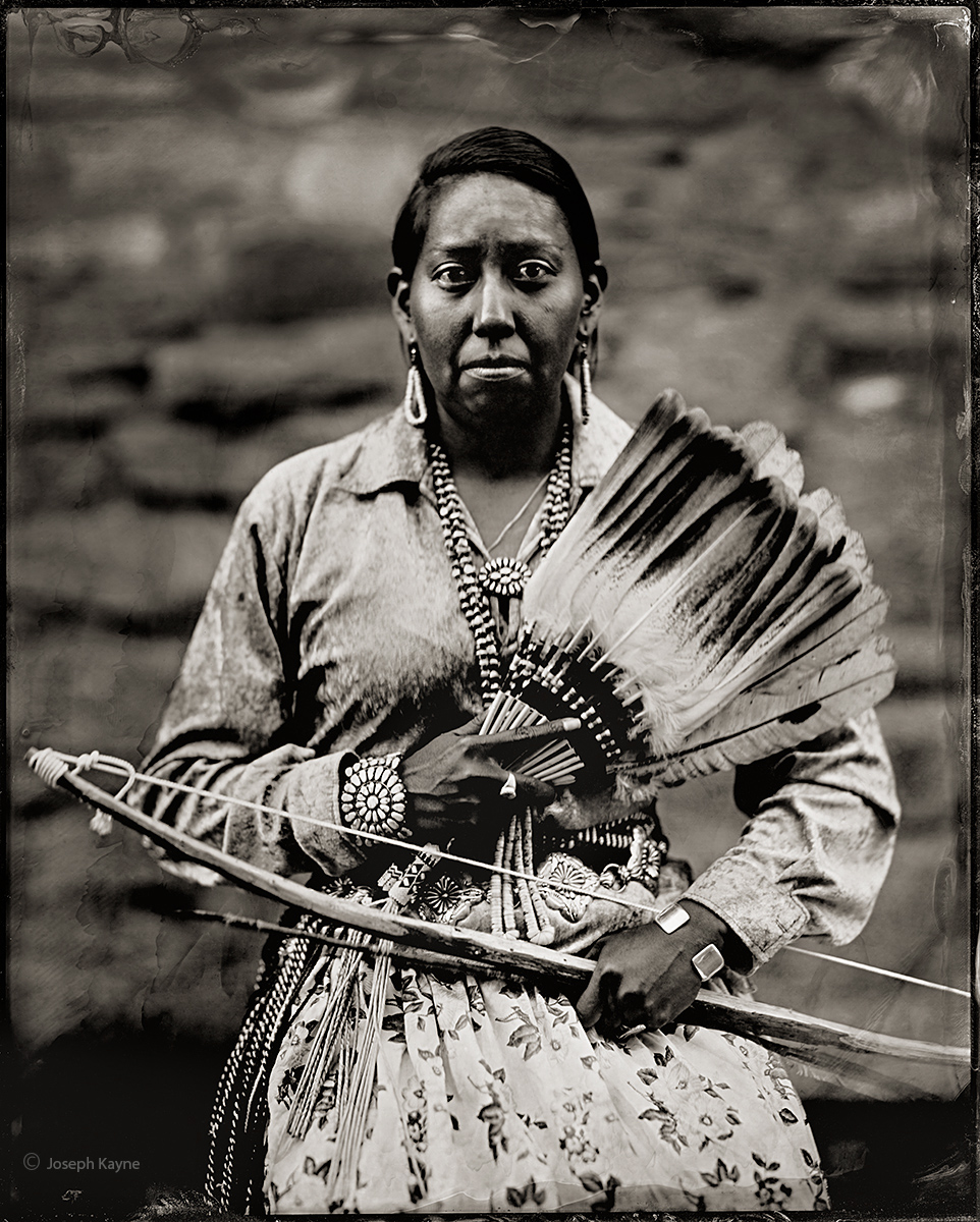 Dar Shepard, Navajo, Hard Rock, ArizonaBorn To: Water Flows TogetherBorn From: Red House ClanWet Plate Collodion Tintype Photo...