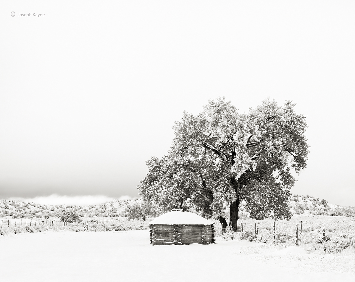 a,navajo,christmas,old,hogan,in,the,snow, photo