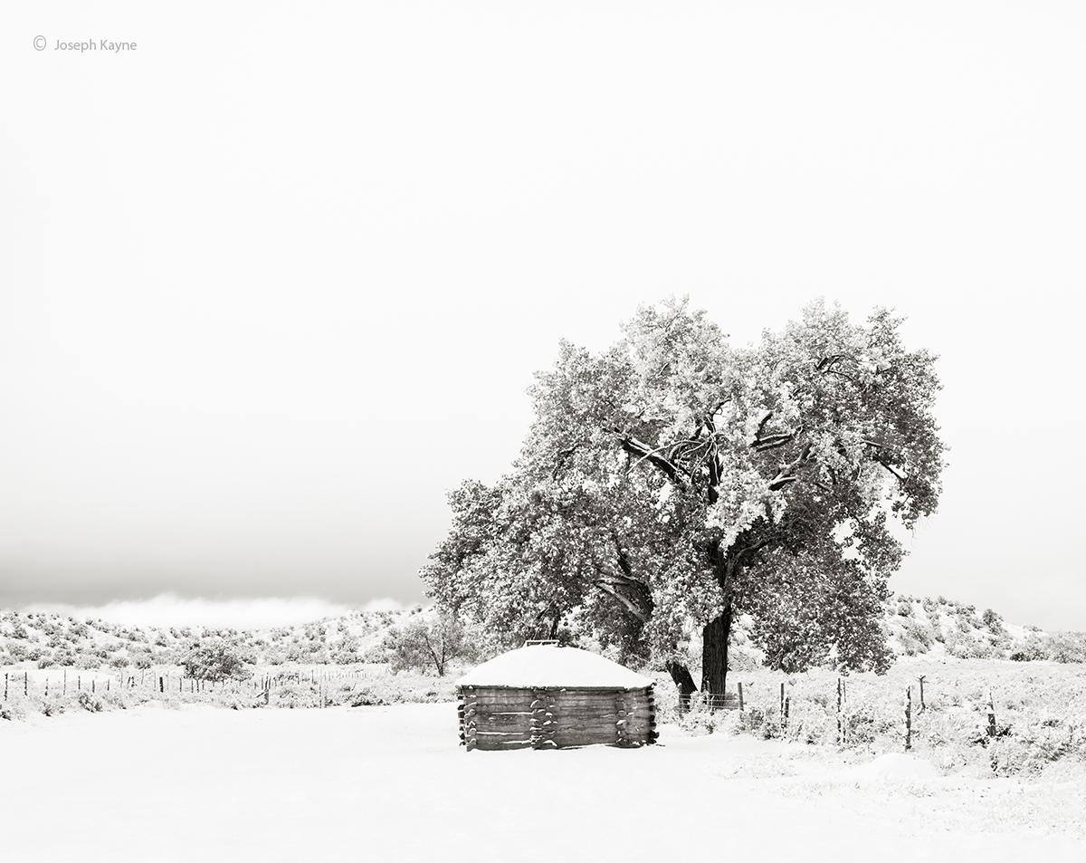 Old Navajo Hogan In The Snow