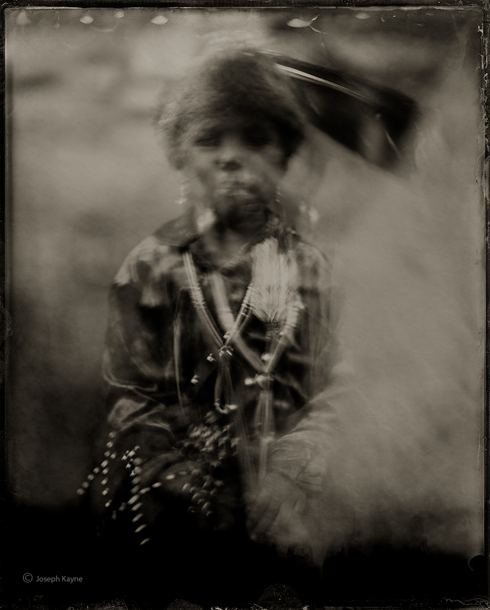 Keanu Towne, NavajoBorn To: Water Flows Together PeopleBorn For: Red Running Into The Water ClanWet Plate Collodion TintypePhoto...