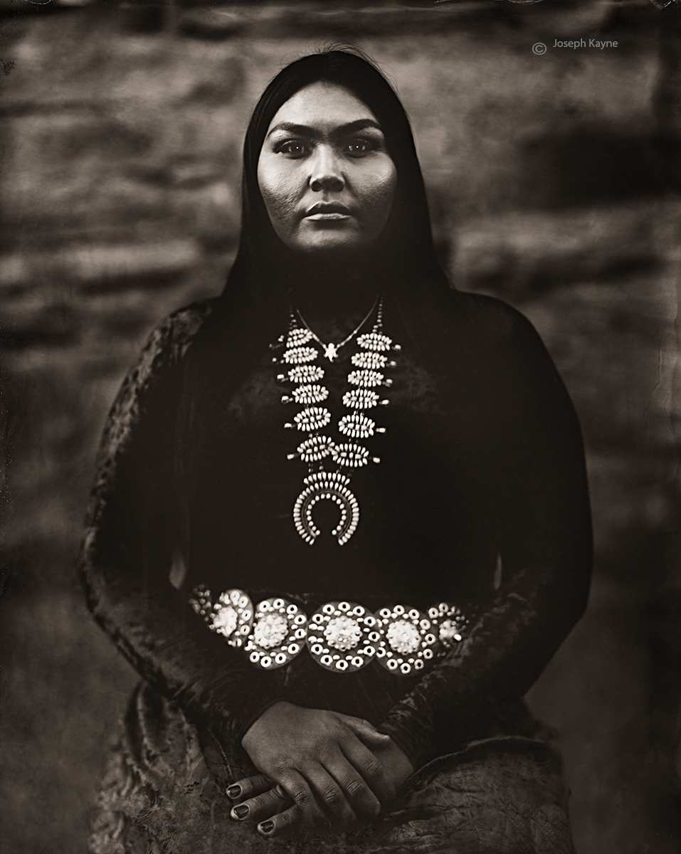 Calandra Etsitty, Navajo, Many Farms, ArizonaBorn To: Red Running Into Water ClanBorn From: Bitter Water ClanWet Plate Collodion...