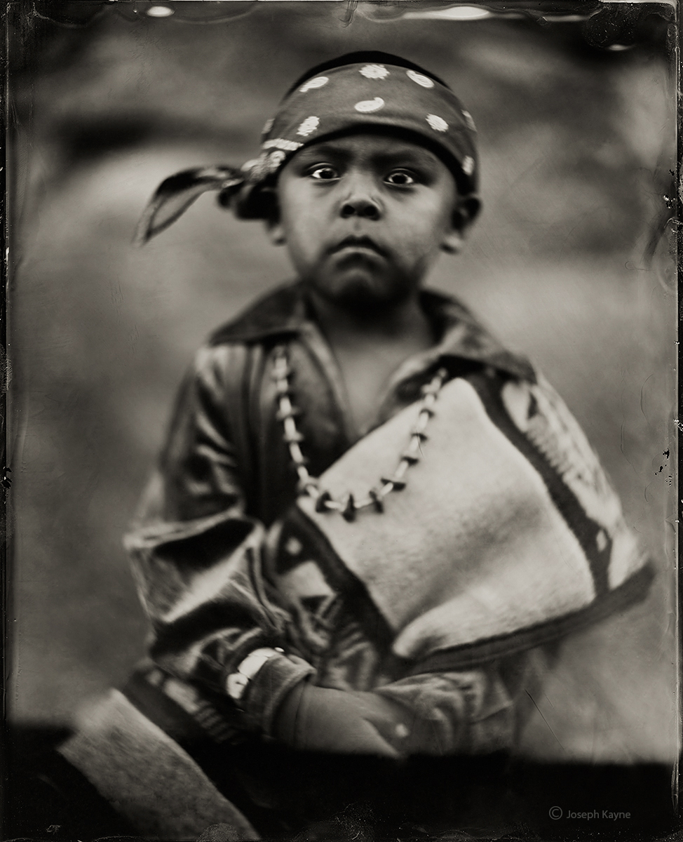Mathus Winney, Navajo, Chinle, ArizonaBorn To: Within His Cover ClanBorn From: Mexican People ClanWet Plate Collodion TintypePhoto...