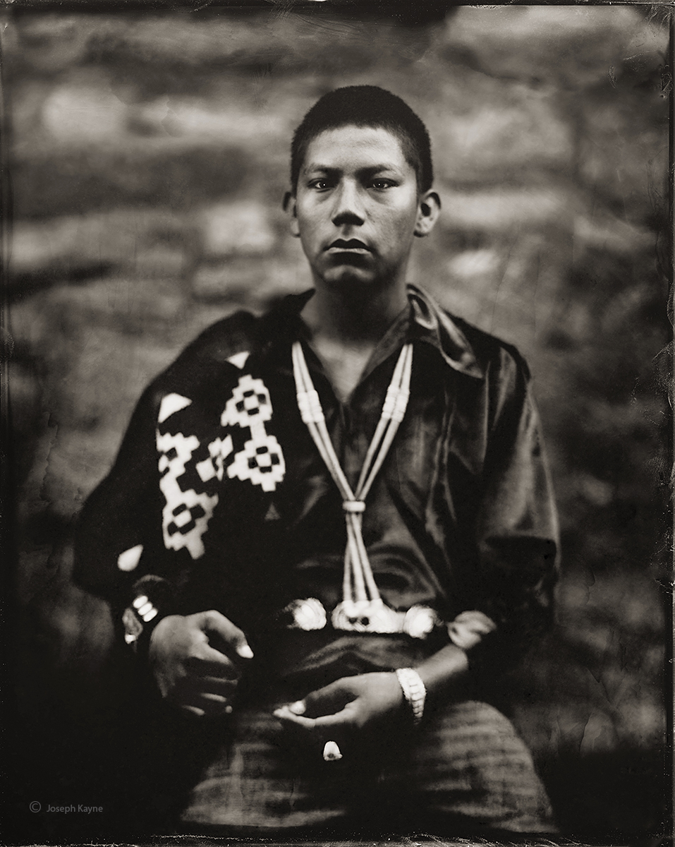 Kayden Wagner, Navajo, Lukachukai, ArizonaBorn To: Water Flows Together ClanBorn For: Coyote Pass ClanWet Plate Collodion TintypePhoto...