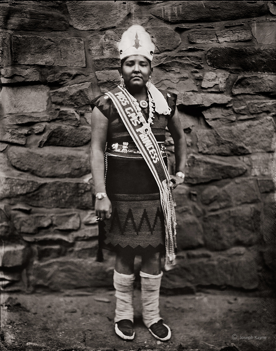 Shyah Salabye, Navajo,Ganado, ArizonaGanado Middle School Princess 2018-2019Wet Plate Collodion TintypePhoto © copyright by...