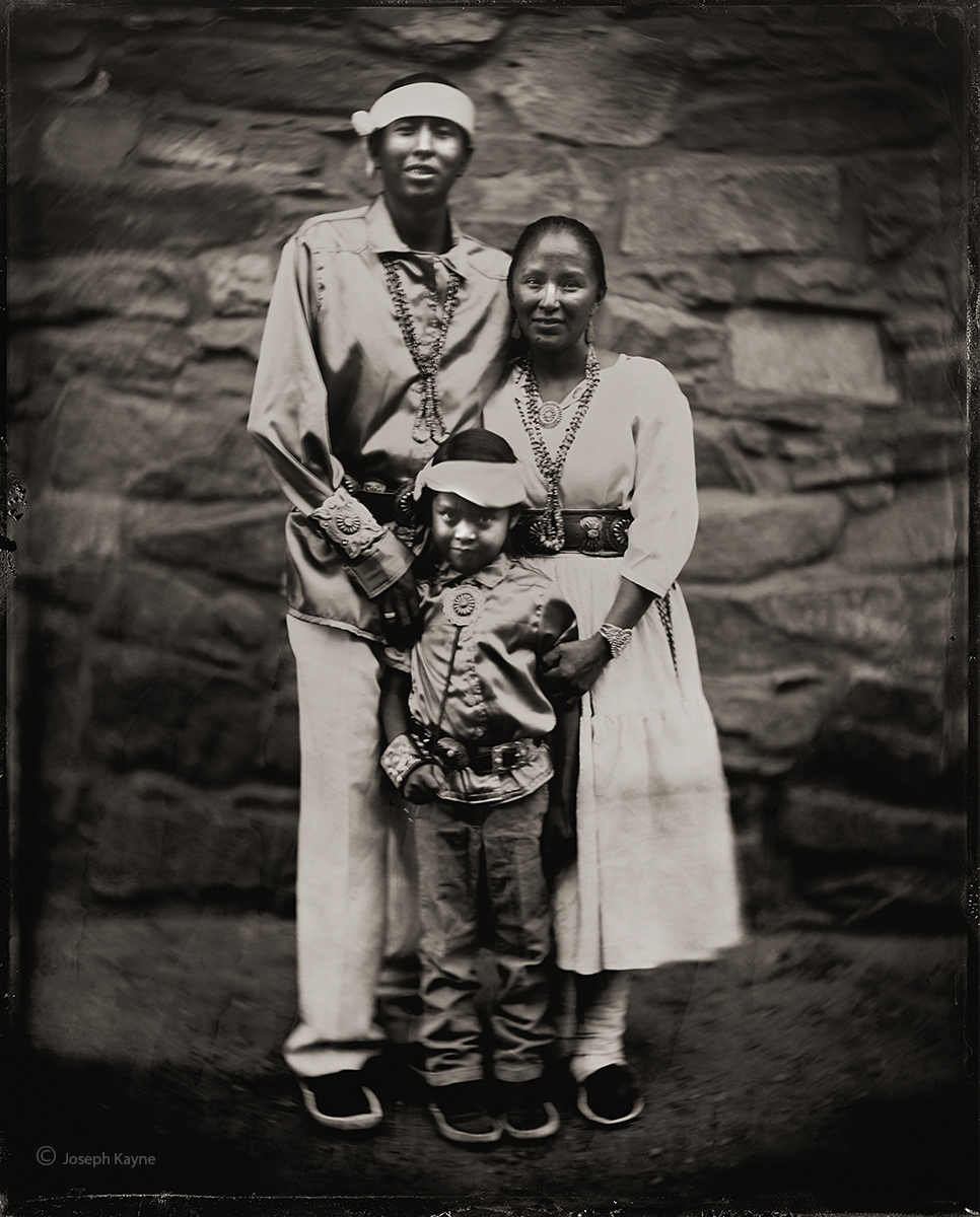 the,ayze,family,navajo,kinlichee,arizona,hubbell,trading,post,ganado,arizona,wet,plate,collodion,tintype, photo