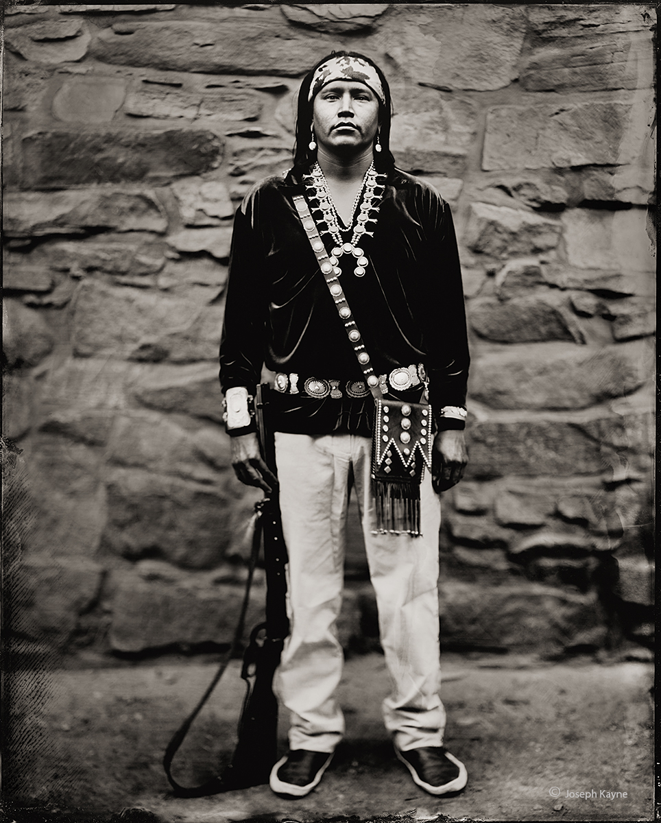 Kyle Johnson, Navajo, Steamboat, ArizonaBorn To: Mexican ClanBorn From: Coyote Pass ClanWet Plate Collodion Tintype Photo ©...