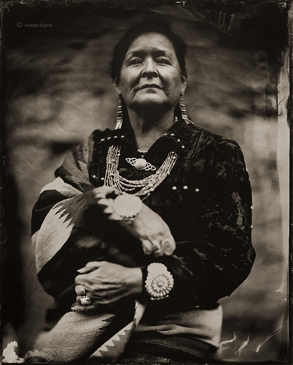 Delphine Ludlam, Navajo,Ganado, ArizonaBorn To: Towering House PeopleBorn For: Red Running Into The Water ClanWet Plate Collodion...