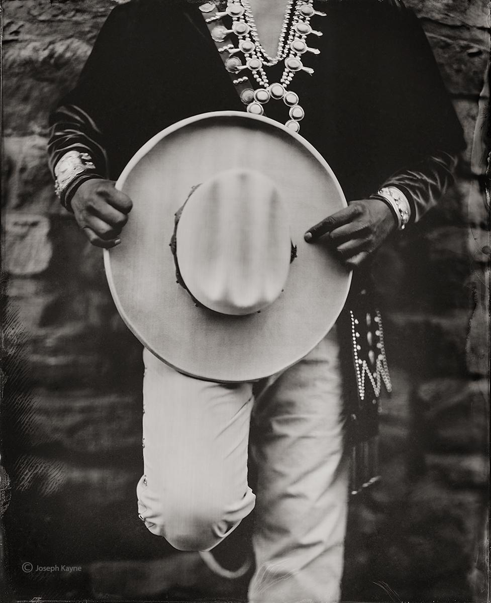 A Navajo & His HatWet Plate Collodion TintypePhoto © copyright by Joseph Kayne