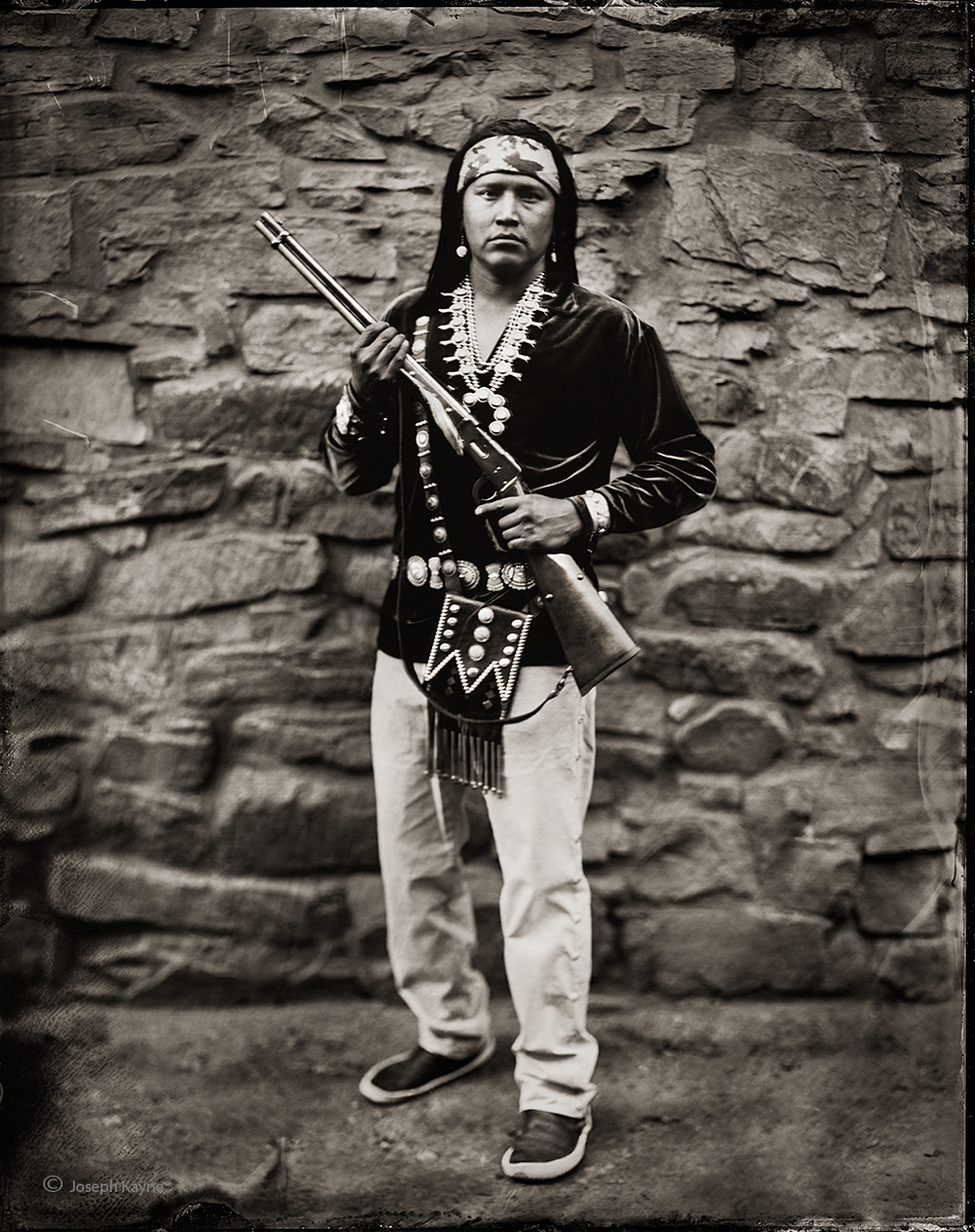 Kyle Johnson, Navajo, Steamboat, ArizonaBorn To: Mexican ClanBorn From: Coyote Pass ClanWet Plate Collodion Tintype Portrait
