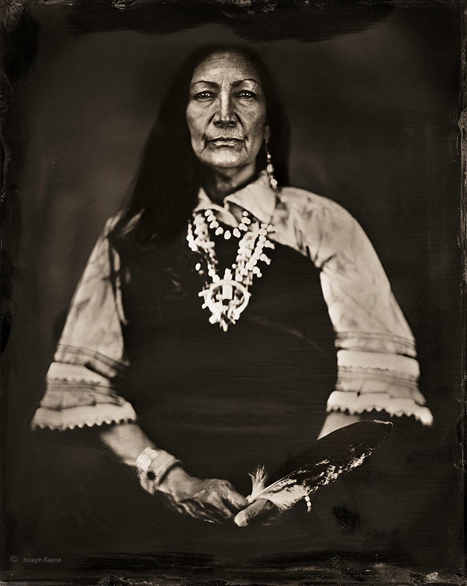 history,maker,debra,Haaland,first,native,american,woman,elected,to,congress,chicago,wet,plate,collodion,tintype, photo