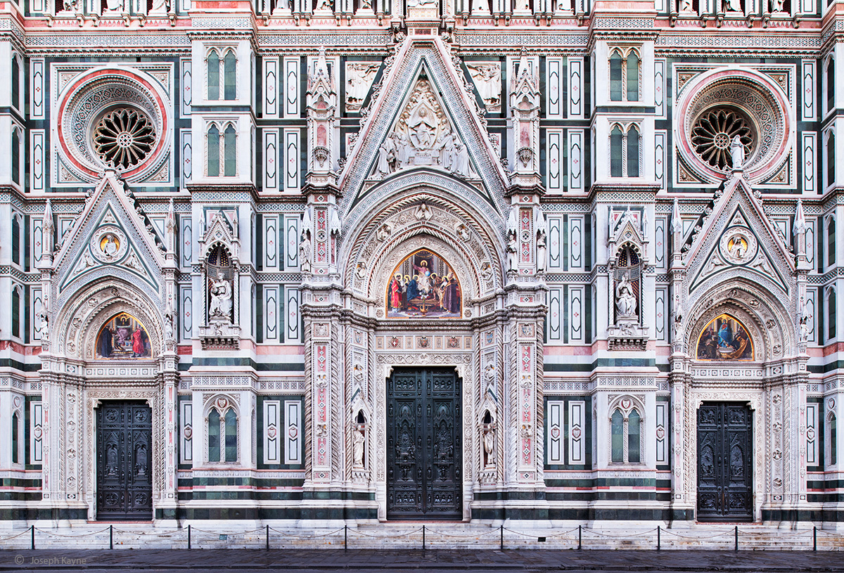 Church Facade,Florence, Italy
