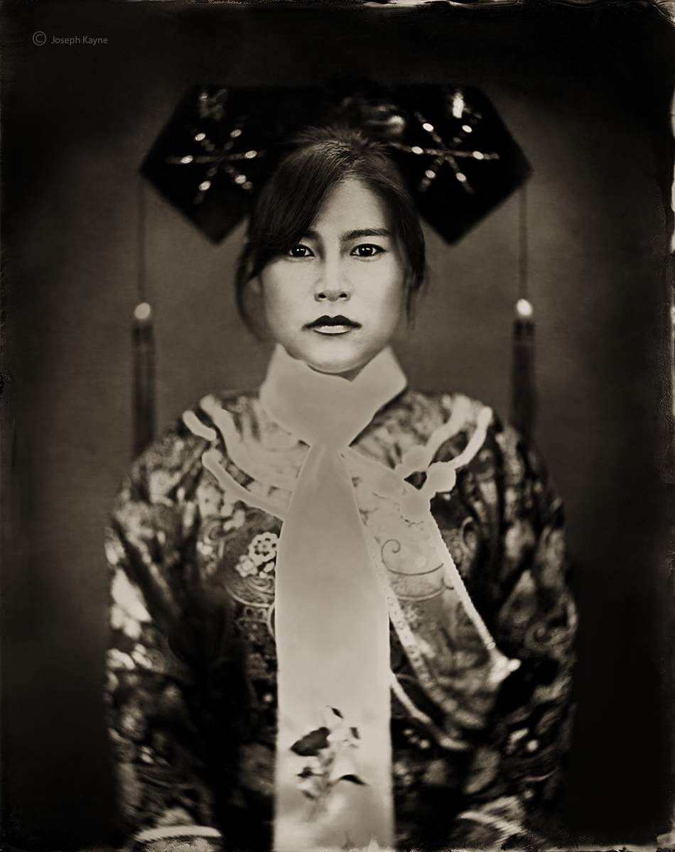 Qing Dynasty Chinese Woman, 8x10 Wet Plate Collodion Tintype