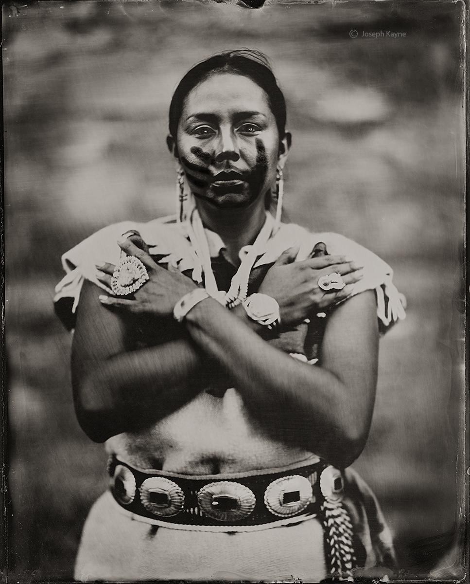 Janene, Navajo, ActivistGallup, New MexicoBorn To: Black Streak Wood PeopleBorn For: Bitter Water ClanWet Plate Collodion TintypePhoto...