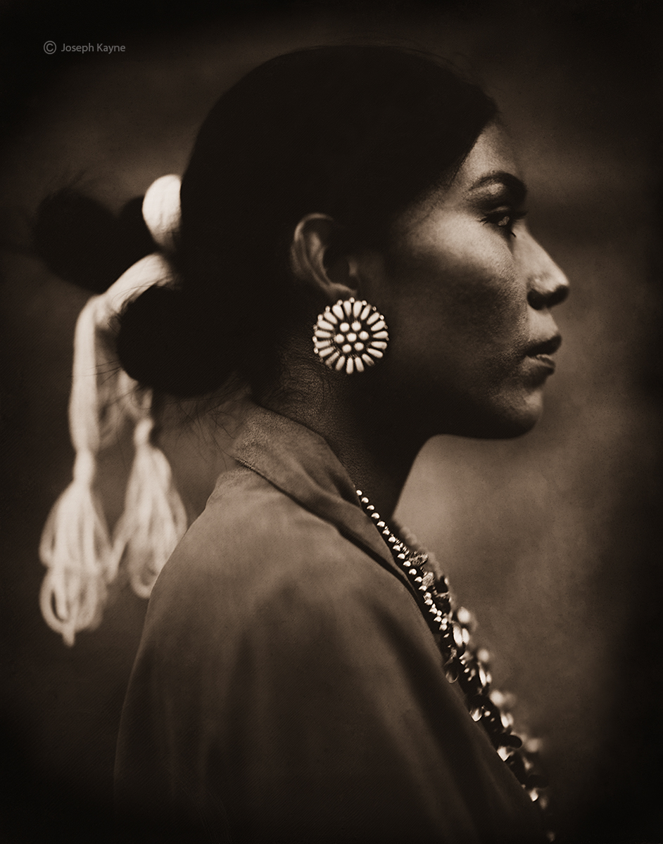 Nicole Mohawk Begay, Navajo, Chambers, ArizonaBorn To: Coyote Pass ClanBorn From: Water ClanWet Plate Collodion Tintype Photo...