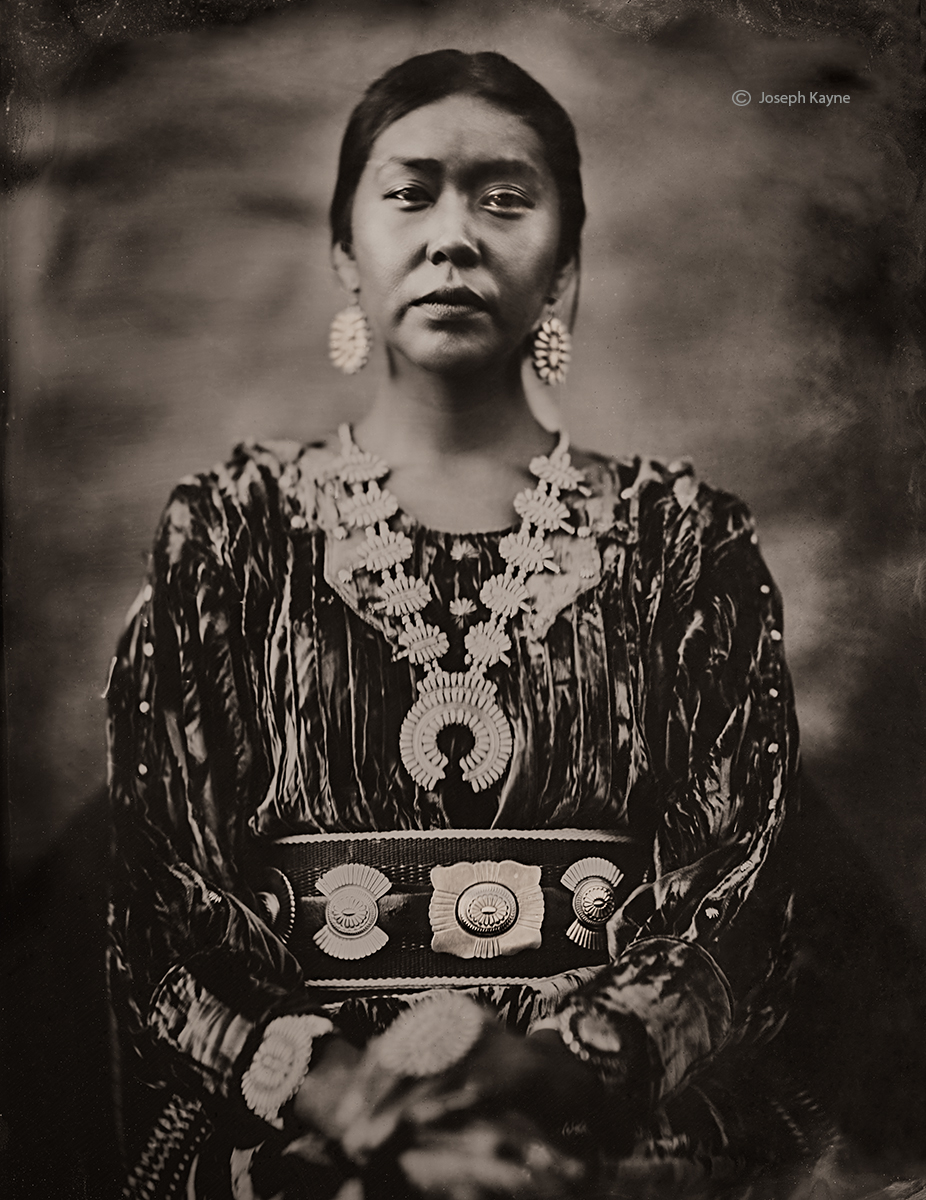 Shantika Bia, NavajoTsaile, ArizonaBorn To: Red Running Into Water PeopleBorn From: Coyote Pass ClanWet Plate Collodion Tintype...