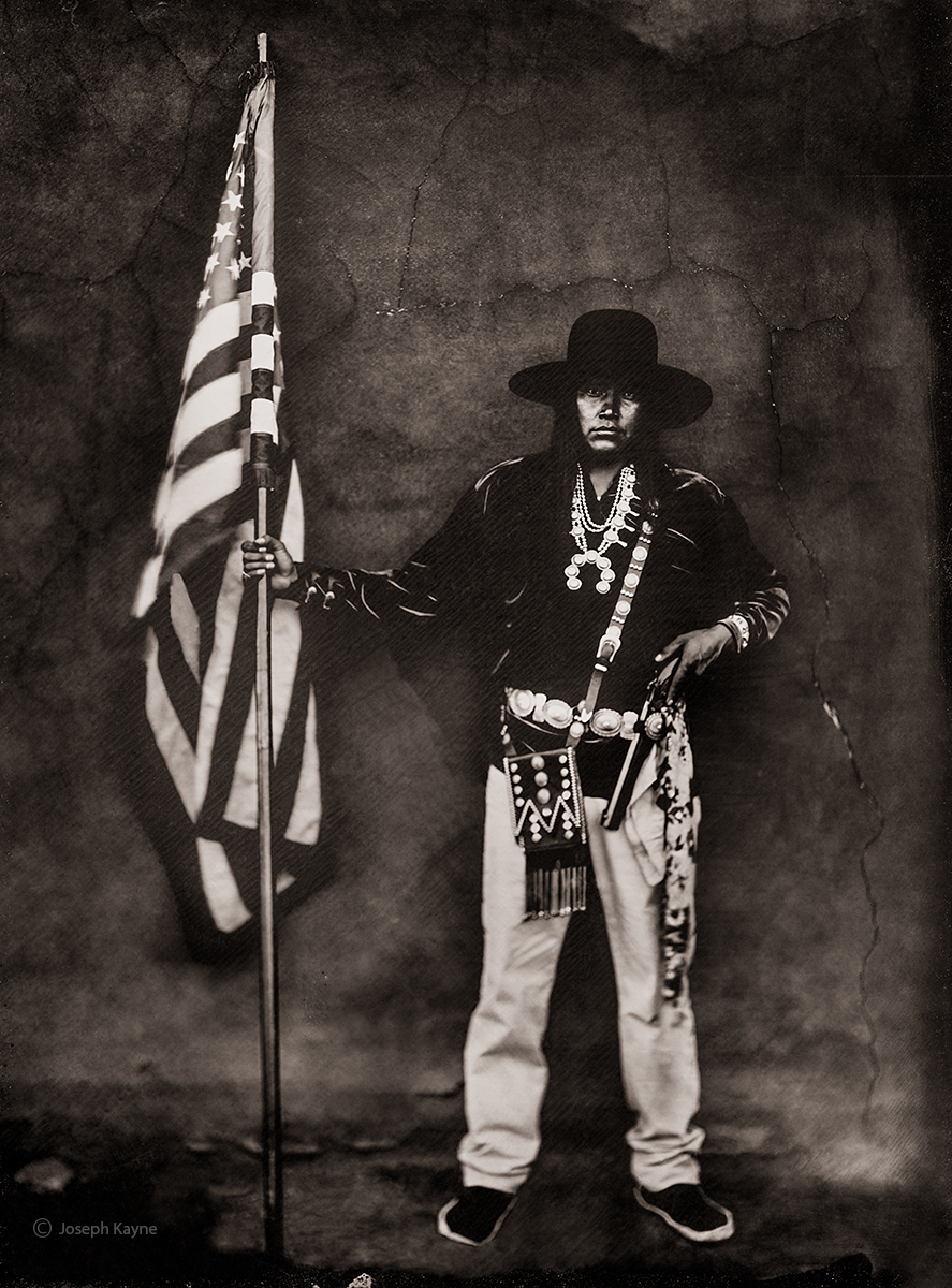 Kyle, NavajoSteamboat, ArizonaBorn To: Mexican ClanBorn From: Coyote Pass ClanWet Plate Collodion Tintype Photo © copyright...