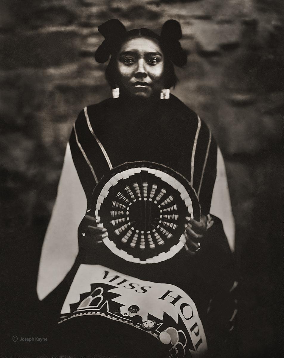 Mikaela, HopiTuba CityCorn ClanWet Plate Collodion Tintype© copyright by Joseph Kayne
