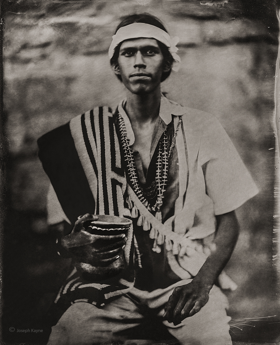Casey, Navajo, Chinle, ArizonaBorn To The Towering House ClanBorn From The Bitter Water PeopleWet Plate Collodion Tintype PortraitPhoto...