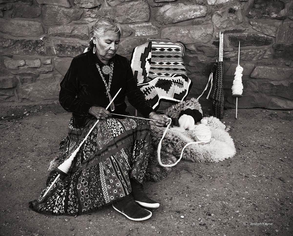 Navajo WeaverHubbell Trading PostBorn To: Cliff Dweller ClanBorn For: Black Streak Clancopyright Joseph Kayne