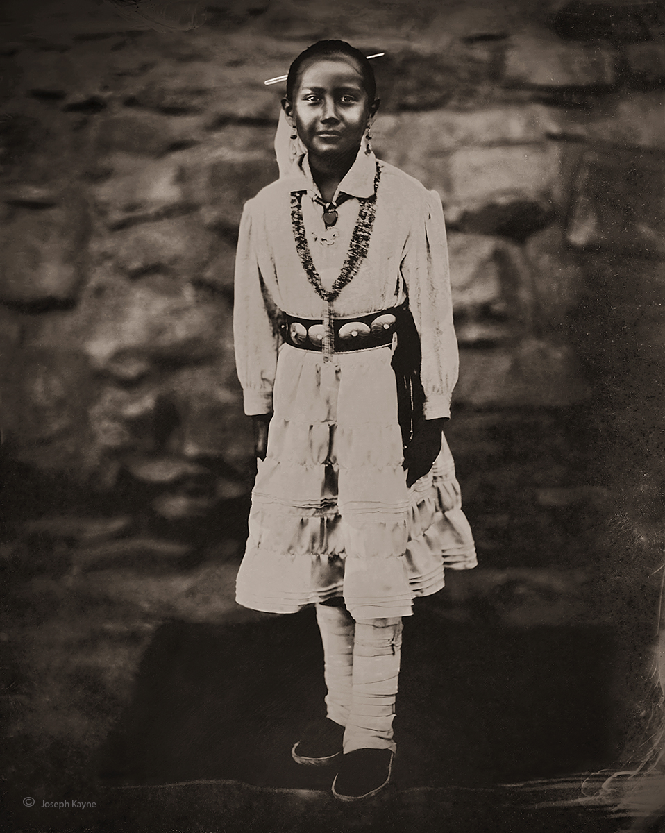 Navajo Girl,Hubbell Trading Post,Navajo Nation,8x10 Wet Plate Collodion Tintype