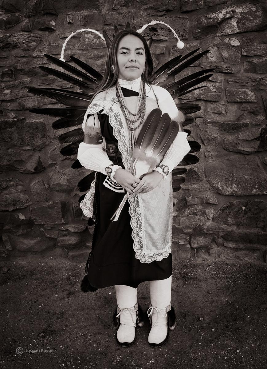 Franki Yellow FlowerOwhkay Owingeh PuebloCopyright Joseph Kayne