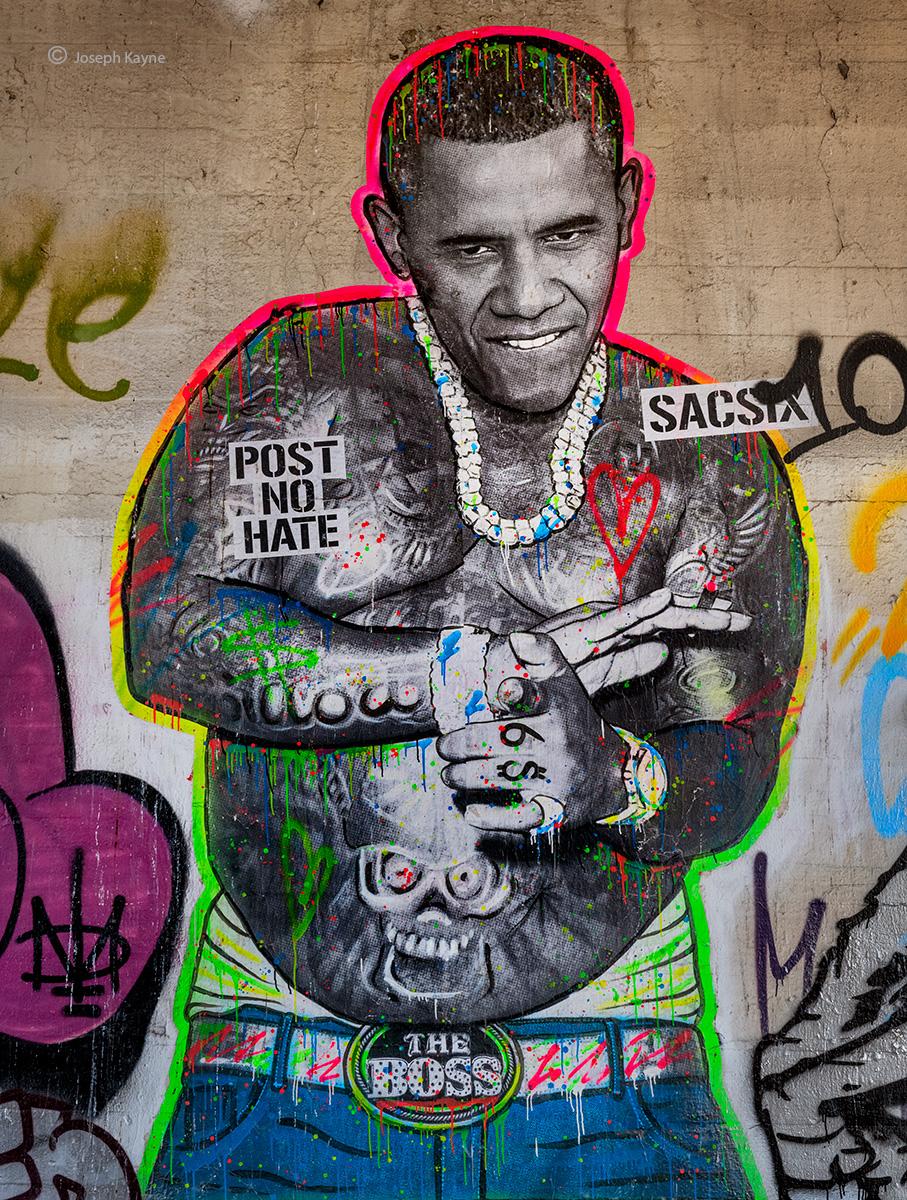 The BossBarack Obama WheatpasteArtist: SacSix